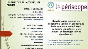 PRÉSENTATION DES ACTEURS DU PÉRISCOPE